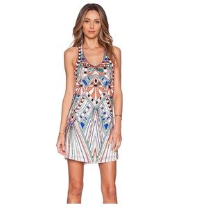 Parker Ramsey Sequined Beaded Dress